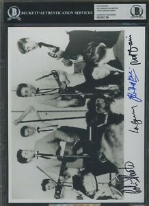Rod Davis Colin Hanton John Lowe Len Garry Signed Photo AUTO Autograph BGS BAS 2
