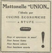 W3368 Mattonelle UNION l'ideale per cucine e stufe - Pubblicità 1930 - Advertis.