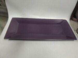 Partylite Zen Candle Garden Tray ~ Retired Purple Decor Trinket Tray Platter