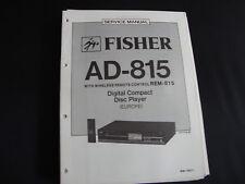 Original Service Manual Fisher AD-815