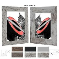 Bilderrahmen London-Rio Holz MDF Foto Poster Rahmen Farbe Größe Wählbar
