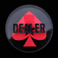 Double-Sided Texas Hold'em Dealer Button - Casino Grade 3 Inch Diameter 260g