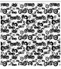 Different Models Of Motorbikes Racing Extreme Sports Theme Shower Curtain Set
