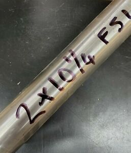 """stainless steel F51 round bar off cut 2"""" dia x 10 1/4 """" long in good cond."""