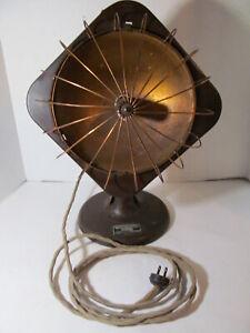 Vtg Edison Hedlite Heater Cast Metal & Copper Portable Space Heater - Works
