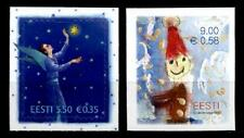 Weihnachten. Engel mit Stern, Weihnachtsmann. 2W. Estland 2010