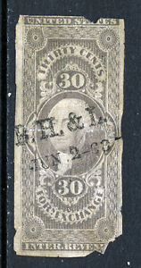 Bigjake: R51a, 30 cent Foreign Exchange Imperforate Revenue, Space filler