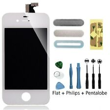 White LCD Screen + Glass Digitizer Assembly + 9 in 1 Tool Kit for iPhone 4 AT&T