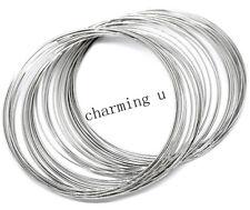 20 giri di filo molla metallico memory wire x bracciale 60x0.6mm