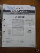 Manual de servicio JVC CA-S60 Sistema de alta fidelidad,ORIGINAL