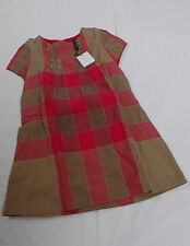 NWT Burberry Girl Dee Ruffle Check Print Dress 5Y PINK SWEET PEA