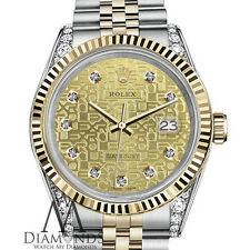 Ladies Rolex 26mm Datejust 2 Tone Diamond Dial with Champagne Gold Jubilee Metal