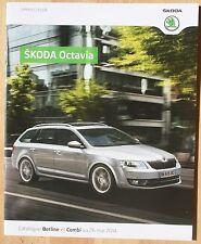 rare Catalogue Skoda Octavia Berline et Combi - France mai 2014 - 28p