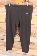 ADIDAS Womens 3/4 Tight Capri BLACK Pant Running Legging XL XLARGE NEW!
