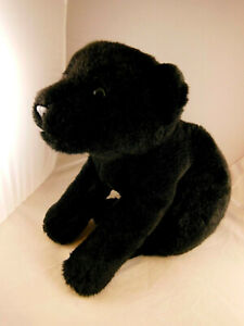 Black Leopard Plush Animal Alley 19 inch Nose to Tail Beautiful Green Eyes