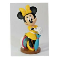 "Disney Minnie Mouse 3"" PVC Vacation Tourist Yellow Umbrella Figure Cake Topper"