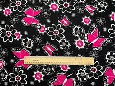 """Fabric - Vintage Butterfly / Floral Design 42"""" x 36"""""""
