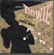 "45 TOURS / 7"" SINGLE JUKE BOX--DAVID BOWIE--LET'S DANCE / CAT PEOPLE--1983"