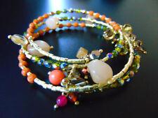 Modeschmuck-Armbänder aus Messing mit Achat-Hauptstein für Damen