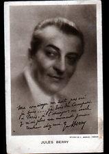 ACTEUR de CINEMA / Jules BERRY , Portrait en 1927
