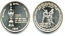 Cricket World Cup 1999 Moneda con los nombres de todos los países de la competencia