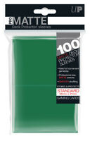 Ultra PRO Pro-Matte Deck Protector Sleeves Standard Card GREEN 100ct 66 x 91mm