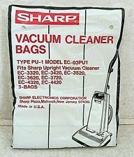 Sharp Vacuum Cleaner Bags 3 per package Type Pu-1 Model Ec-03Pu1 Nos