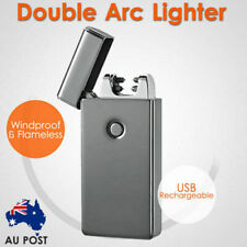 Windproof Lighter Flameless Electric Double Arc Plasma Torch Usb Rechargeable AU
