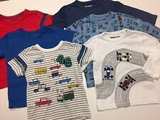 NEXT Bundle Cars Vehicles Print X3 T-shirts X3 Long Sleeve Tops Age 9-12 Months