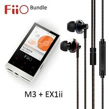 Fiio M3 hires music (flac/WAV/MP3) player + EX1ii 2nd gen iem casque bundle