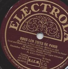 M. Galiardin :  Sous les toits de Paris - 1930 + C`est pas comme ca