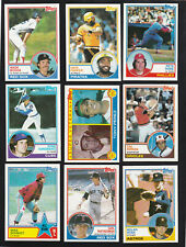 1983 U PICK TOPPS TEAM SETS W/ TRADED RED SOX Boggs Rookies + More