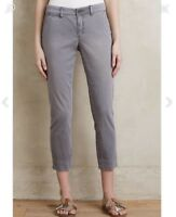 New Anthropologie Pilcro Stet Skinny Pant Sz 27 Women's Gray Cropped $120