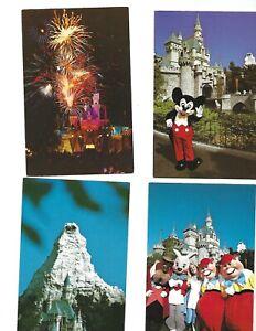 Lot 7 dif Vintage Disneyland Postcards