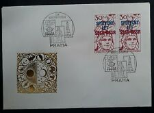 1978 Czechoslovakia Cover ties 2 Czech-USSR Space stamps w Philately Day cachets