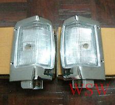 Chrome Corner Park Lights Front Indicator For Nissan Navara D21 Ute 92-97 93