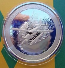 2018 St. Vincent & the Grenadines SEAPLANE $2 BU silver coin .999 fine silver