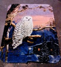 Snow owl blanket, so colorful, so lovely! so comfortable!