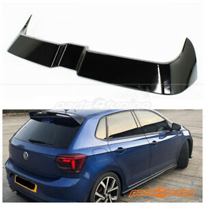 VOLKSWAGEN POLO AW1 2018-2021 ROOF SPOILER WING GLOSS BLACK O STYLE