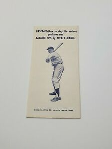 1962 Mickey Mantle New York Yankees Baseball Batting Tips (PL1)