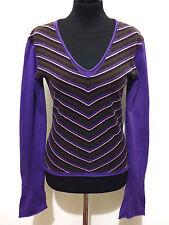 TOMMY HILFIGER Maglione Maglia Donna Lurex Cotton Woman Sweater Sz.S - 42