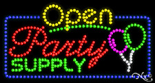 "New ""Open Party Supply"" 32x17 Solid/Animated Led Sign W/Custom Options 25545"