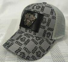 NWT Versace Baseball Hat Adjustable Strap Outdoor Cap Gray