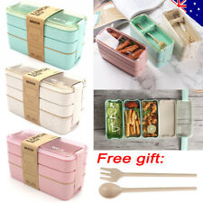 900ml 3-Layer Bento Box Students Lunch Box Eco-Friendly Leakproof Food Container