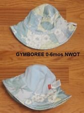 NWOT GYMBOREE Yellow Sun Hat Baby Girl 0-6 mo Greens and White Camelias NEW