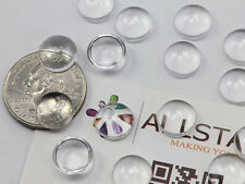 11mm Round Clear Acrylic Cabochons High Quality Pro Grade 50PCS