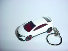 NEW 3D WHITE HONDA CIVIC Si CUSTOM KEYCHAIN keyring key DOHC vTEC TYPE R BLING