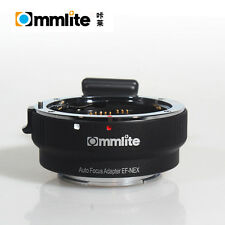 Commlite Auto Focus Canon EOS EF Lens to Sony E mount Adapter NEX 7 A7 A7R Black