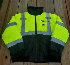 Fedex Uniform MCR Safety Vortex Insulated Jacket Neon Green Reflective