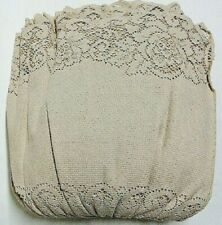 Full Size Lace Bed Skirt Natural Mocha Organic Cotton Victorian Rose Bedroom